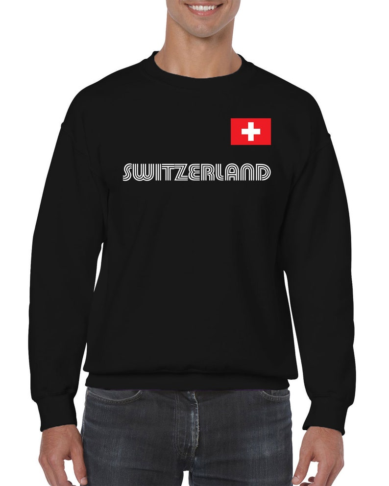 Switzerland Series 1 Country Pride Zurich Geneva Basel Bern Lausanne Winterthur Lugano Exploring Discovering Men/'s Crew Neck Sweater SWI-01