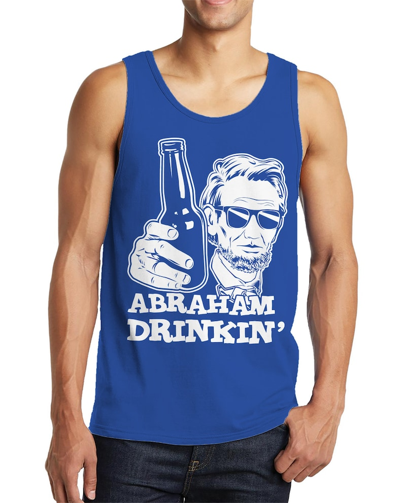 abf3c87d14cc7 Abraham Drinkin  Gnarly Lincoln With Shades Funny Parody