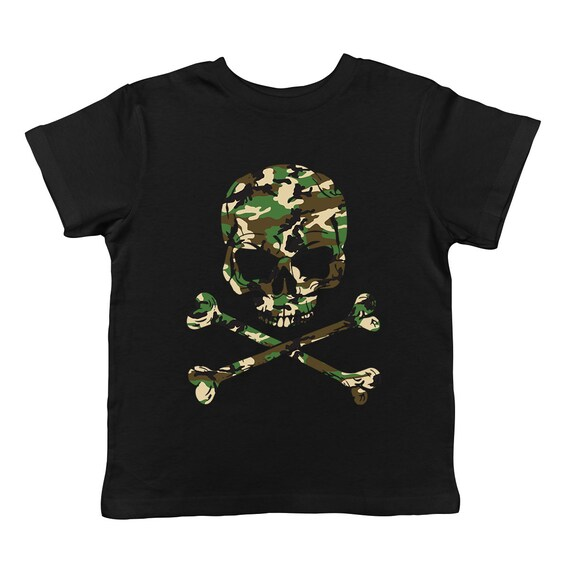 SpiritForged Apparel Camo Skull and Crossbones Infant T-Shirt