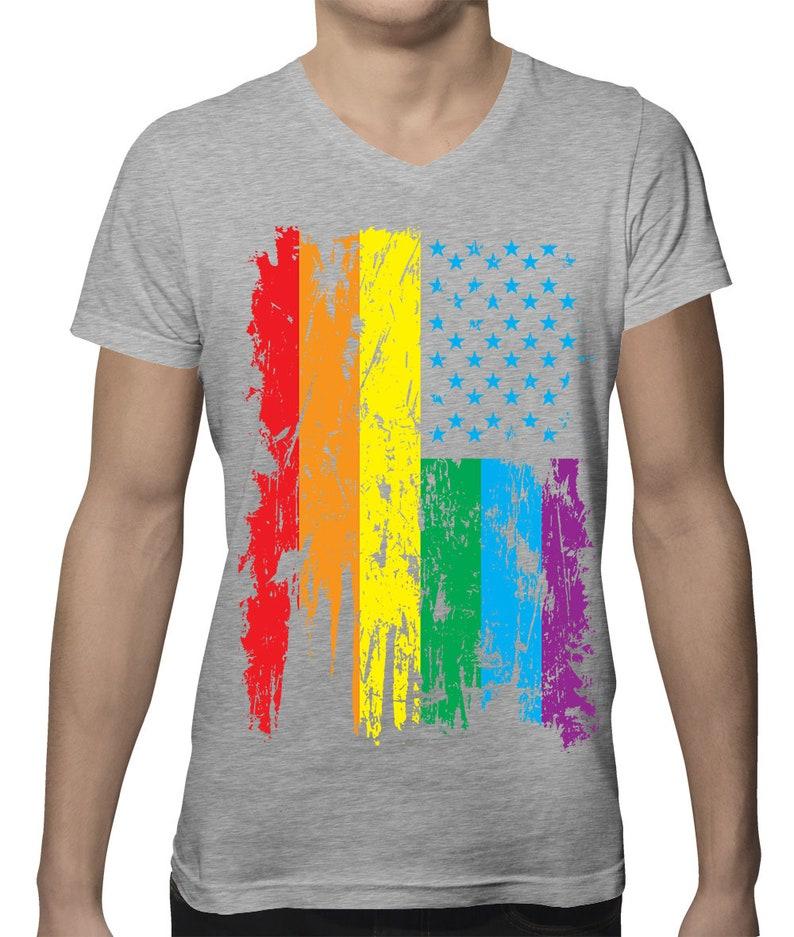 52bd88440 Gay Pride Parade American Flag LGBT Community Funny Pro Gay | Etsy