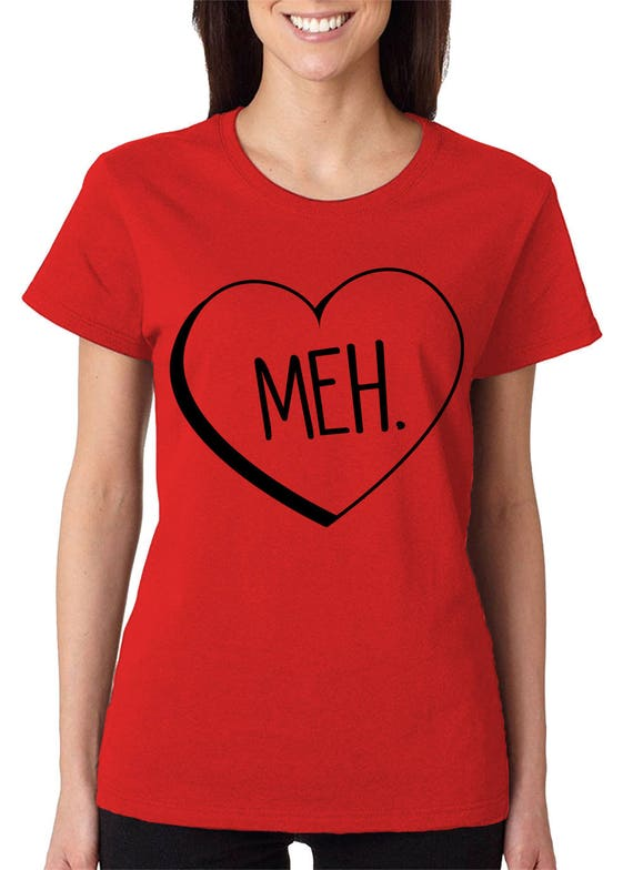 Meh Candy Heart Anti Valentines Day Cupid Love Holiday Funny Etsy