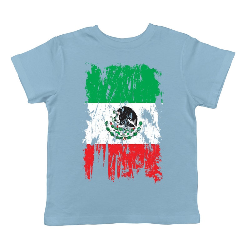 Distressed Mexico Flag Patriotism Mexican Pride Honor Respect Pledge Orgullo Cute Adorable Mini Flag Nationality Infant T-Shirt KID-0212