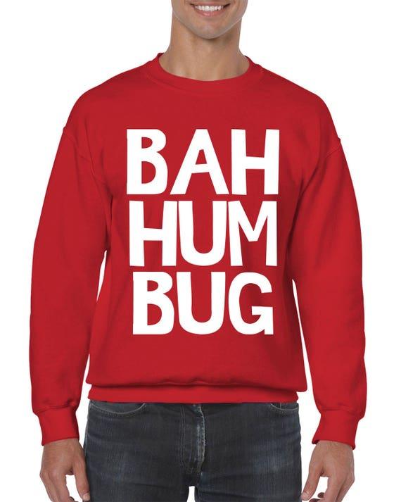 Bah Humbug Christmas Sayings Ugly Xmas Christmas Sweater Funny Etsy