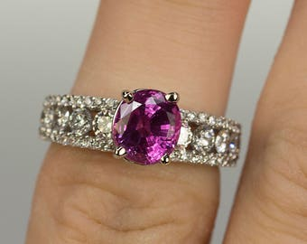 Burma Pink Sapphire Ring