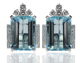 Tiffany & Co Aquamarine Earrings