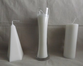 Pine Scented White Candles