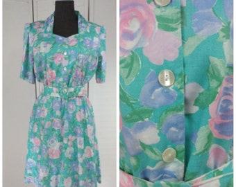 Vintage XL Shirtwaist Dress Summer