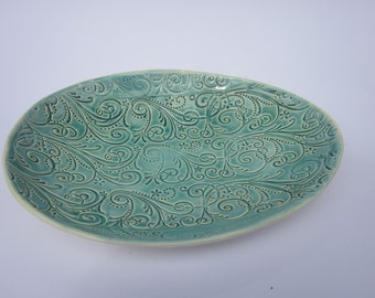 egg  shaped bowl with paisley print