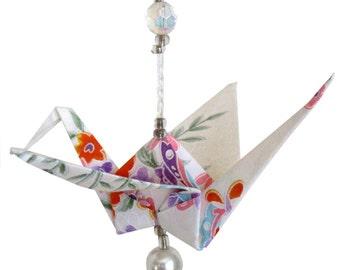 "Beaded Crane ""WC"" (Washi Paper)"