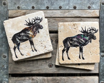Animal Decor Home & Garden Metal Coasters X 6
