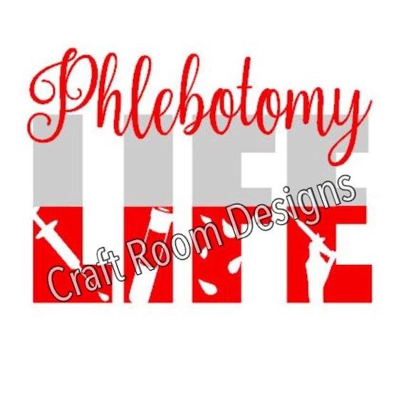 Phlebotomy Life Svg Design Etsy