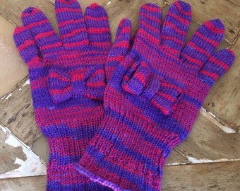Ladies Hand Knitted Gloves
