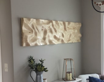 Large Wooden Wall Art Sculpture - Wood in Motion