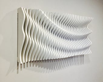 30646b7d59 Large Wooden Wall Art, Modern Art, Parametric Wave, 3D Art, Wall Sculpture, Wall  Hanging, Wood Art, Wall Decor, Abstract Art, Parametric Art
