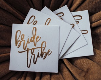 Bride Tribe Foil Flash Temporary Tattoos - Gold