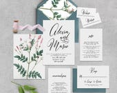 "Blush Pink Printable Wedding Invitation Suite ""Blush"" - Printable DIY Invite, Affordable Wedding Invitation"