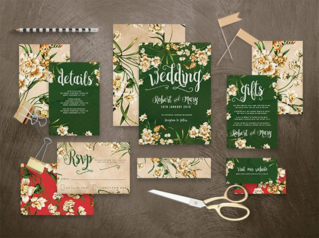 Printable Wedding Invitation Suite Snow White Printable Diy