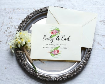 Print yourself envelope addressing | No Place Like Home | Printable DIY Invite, Envelope Printing, Address Label