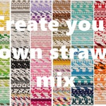 Paper Straws, Create your own Paper Straw Mix, Choice of over 300 colors, Mix and Match Paper Straws, Custom Birthday Party Paper Straws