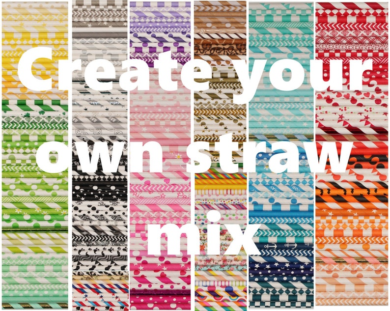 Paper Straws Create your own Paper Straw Mix Choice of over image 0