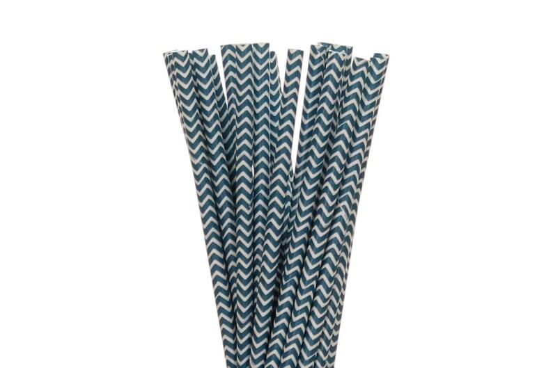 Paper Straws Navy Blue Chevron Paper Straws Navy Police image 0