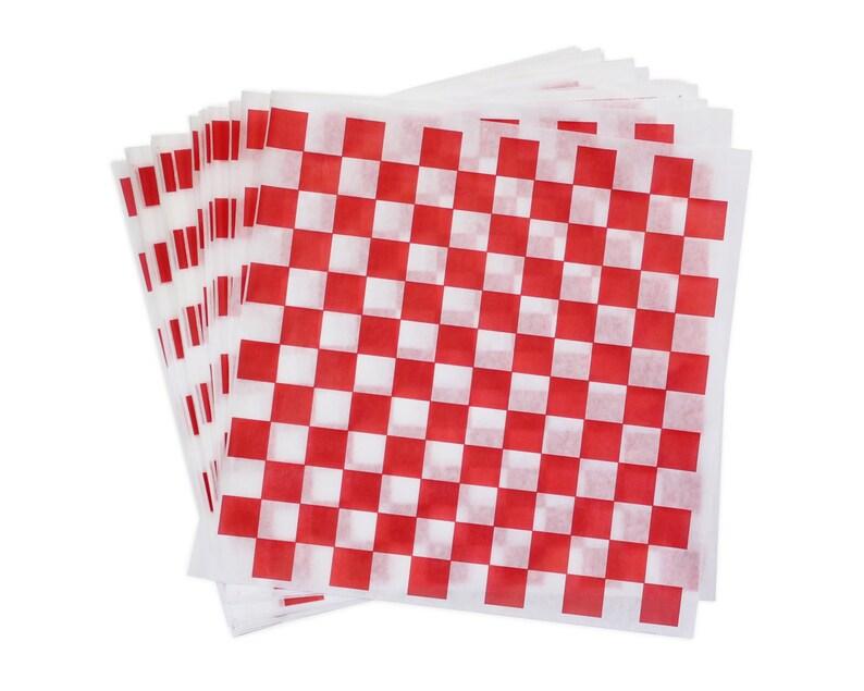 Red and White Check Deli Wrap 12 x 12 Checkered image 0