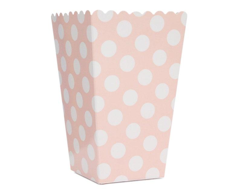 Popcorn Box Pop Corn Scoop Pink Polka Dot Popcorn Box Scoop image 0