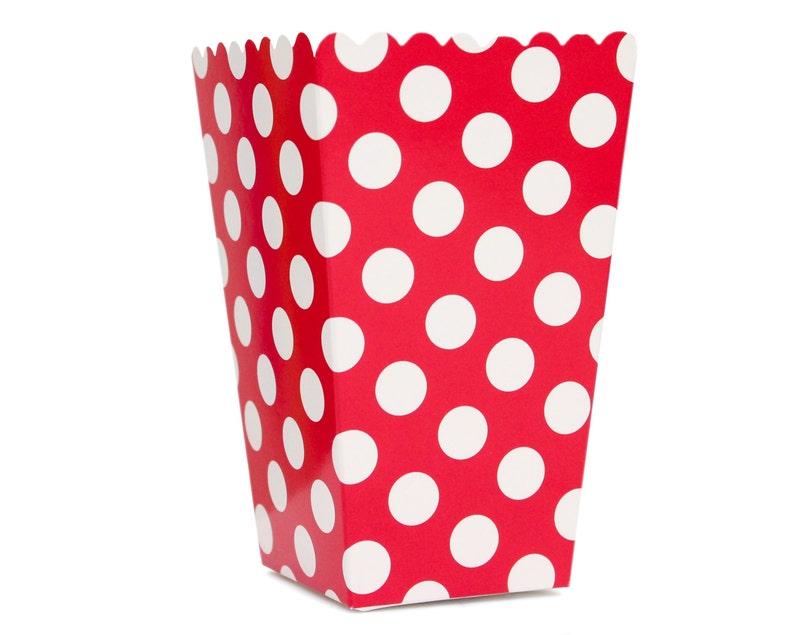Popcorn Box Pop Corn Scoop Red Polka Dot Popcorn Box Scoop image 0