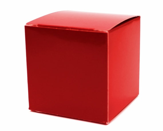 Red Box 3x3x3 10 Party Favor Boxes Red 1st Birthday Party Favor Red Wedding Favor Baby Shower Favors Retro Hollywood Party Favor Boxes