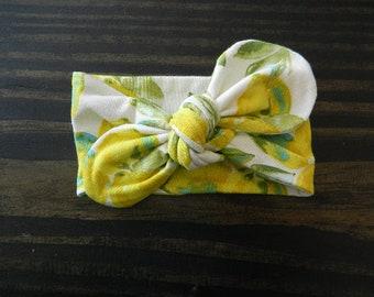 Lemon Knot Headband-Girls Knot Headbands, Newborn Headbands, Baby Headbands, Tie Headbands