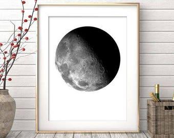La Luna Print, Moon Poster, La Luna Wall Art, Full Moon Print, La Luna, Moon Art Print, Full Moon Printable, La Luna Printable
