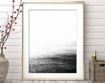 Ocean Print, Ocean Wall Art, Modern Art, Minimalist Wall Art, Black and White Art, Photography, Landscape, Minimalist Print, Nordic Design