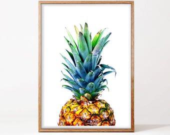 Pineapple Print, Pineapple Wall Art, Tropical Decor, Pineapple Poster, Large Printable Poster, Pineapple Digital Art Instant Download