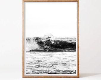 Surf Print, Ocean Art, Modern Art, Ocean Print, Black and White Print, Wall Art, Modern Wall Art, Waves Print, Surf Photography
