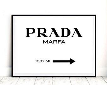 7d050caa7395e Prada Marfa Print - Texas Prada Wall Art, Digital Download, Prada Texas  Print, Modern Scandinavian Decor, Prada Store Poster, Fashion Poster