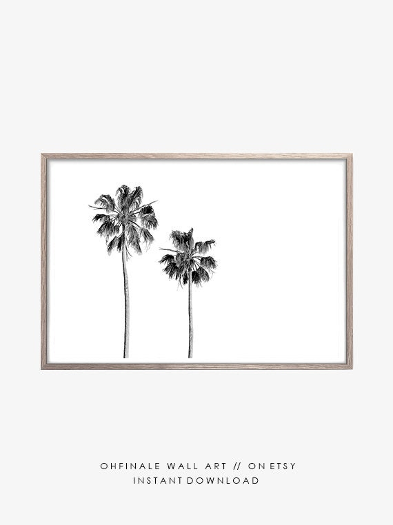 photo regarding Palm Tree Printable called Palm Tree, Printable Artwork, Black And White, Electronic Down load, Beach front Decor, Printable Wall Artwork, Housewarming Present, Pictures, Property Decor