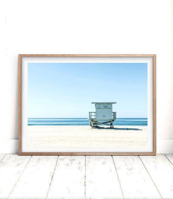 1741fda3c424 Beach Print Beach Decor Wall Art Photo Prints Lifeguard
