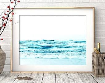 Beach Print, Contemporary Beach Wall Art, Modern Beach Photography, Digital Download,Aerial Beach Print, Sand, Busy Beach Poster, Sea Poster