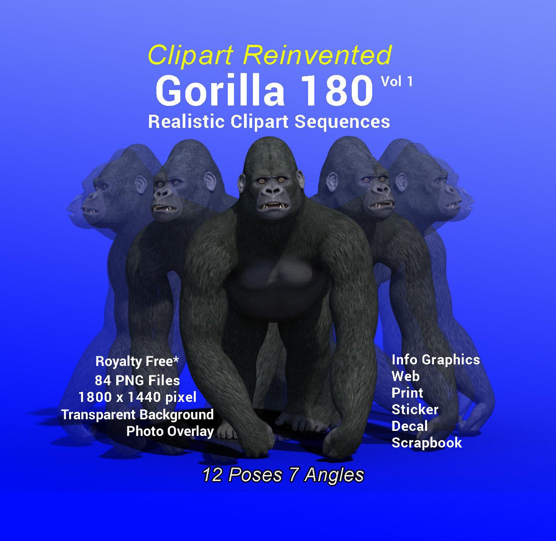 Blue Gorilla Clipart