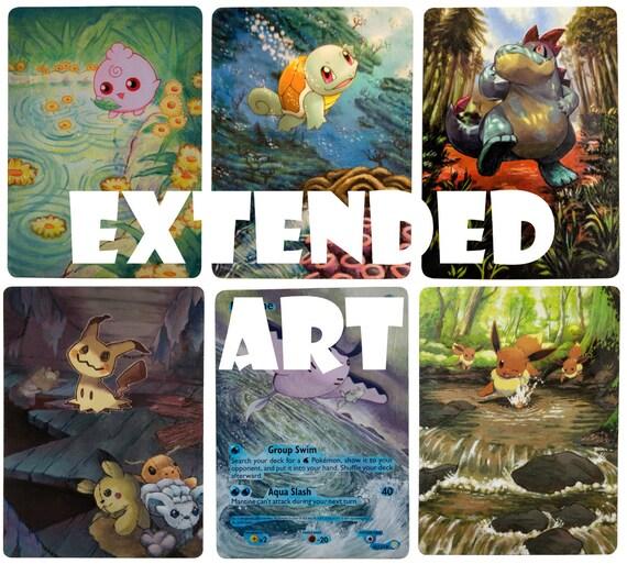 Extended Art Custom Pokemon Card Pikachu