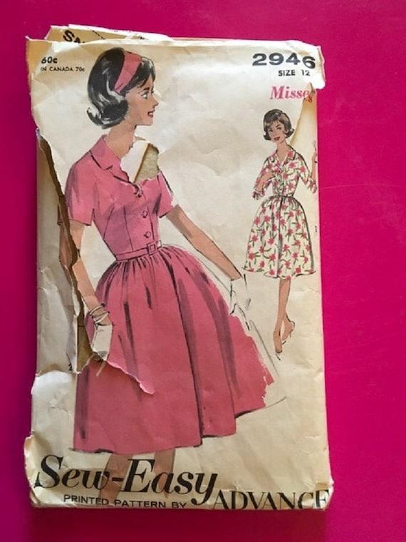 Vintage 1960s Sew Easy Advance Pattern Misses Size 12 No Etsy