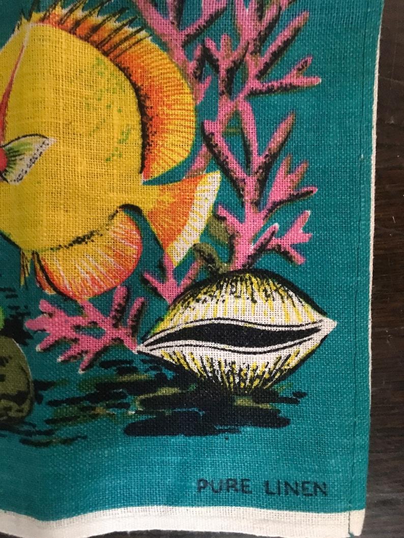 Vintage Queensland Pure Linen Dish Towel Designed in Australia by Leil