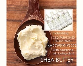 Moisturizing Shower Gel   Natural Body Wash   Shower-poo   Vegan   Spa Gift   Gift Under 20   You Pick   8 oz