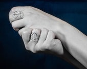 Geometrical silver ring, 3D printed jewellery, Dinea Design - Equilibrium collection