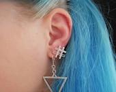 Triangle,geometrical earr...
