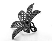 Imperial Lily ring , geometrical jewellery, Dinea Design