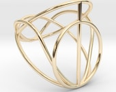 Geometrical 14k yellow go...