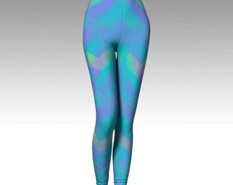 f75b5fe2f8178e pastel leggings - painted leggings - blue leggings - yoga leggings - pants  - fitness clothing - running pants - yoga pants - watercolor