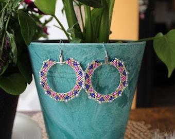 Beaded Hoops — Indigenous Beadwork — Cree Beading — Native Artist — Indigenous Beading
