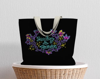 Beading is Medicine Tote Bag — Tote Bags — Shoulder Bag — Indigenous Art — Native bag